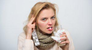 Health Benefits of Tapioca - Woman with flu